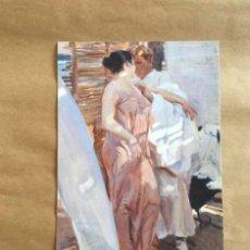 Postales: JOAQUIN SOROLLA. LA BATA ROSA. PINTURA DE 1916. FUNDACION MUSEO SOROLLA. Lote 194508397