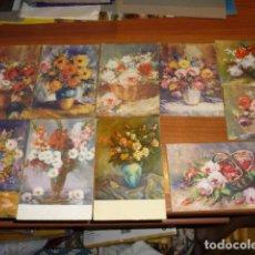 Postales: LOTE 10 POSTALES ANTIGUAS DE FLORES - EDICIONES BARSAL. Lote 194518965