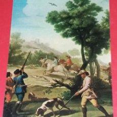 Postales: ´14. MUSEO DEL PRADO. PARTIDA DE CAZA. FRANCISCO DE GOYA. EN EL REVERSO PUBLICIDAD FILATELIA ROMÁN.. Lote 194579692