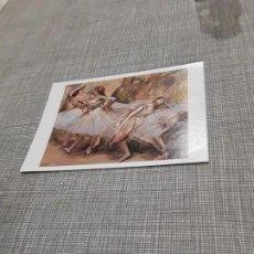 Postales: POSTAL IMAGEN DE PINTURAS FAMOSAS BAILARINAS EDGAR DEGAS . Lote 194617435