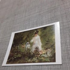 Postales: POSTAL IMAGEN DE PINTURAS FAMOSAS JOVEN ENTRE FLORES . Lote 194617658
