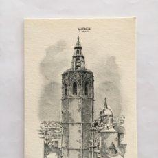 Postales: FELICITACIÓN NAVIDAD. DIPTICO. EL MICALET. VALENCIA. ILUSTRACIÓN DEBLADE. SUBÍ.. Lote 194750416