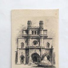 Postales: FELICITACIÓN NAVIDAD. FACHADA DE LA ARCIPRESTAL. CASTELLÓN. ILUSTRACIÓN E. FURIO.. Lote 194751113