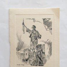Postales: FELICITACIÓN NAVIDAD. EL PALLETER. PALAU DE LA GENERALITAT. VALENCIA. ILUSTRACIÓN VICENTE CORELLA.. Lote 194755047