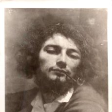 Postales: PINTURA: EL HOMBRE DE LA PIPA DE COURBERT. USADA. BLANCO/NEGRO. Lote 194872447