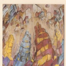 Postales: POSTAL CUADRO MARCELA BEGEGA - PUBLICIDAD EXPOSICION CASA CULTURA. AYUNTAMIENTU LLANGREU. ASTURIAS. Lote 194969236