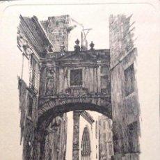 Postales: PINTURA: RINCÓN TÍPICO DE BARCELONA DE ARTURO BALLESTER. NUEVA. BLANCO/NEGRO. Lote 194985786