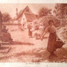 Postales: PINTURA EN SEPIA: LA VIEILLE PLACE DE C. BELLANGER. USADA CON SELLO. VER FOTO. Lote 194985788