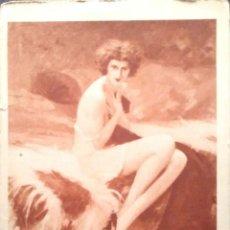 Postales: PINTURA EN SEPIA: LE TAPIS DE NEIGE DE CH. GARRY. Lote 194985796