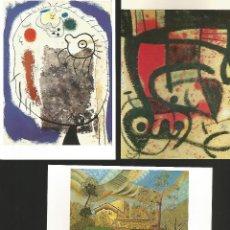 Postales: JOAN MIRÓ.9 POSTALES DE CUADROS DEL FAMOSO PINTOR. Lote 194987495