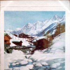 Postales: PINTURA: PAISAJE NEVADO. NUEVA. COLOR. Lote 195064666