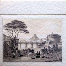 Postales: ROMA ANTICA: CASTILLO S. ÁNGELO. USADA. BLANCO/NEGRO. Lote 195064686