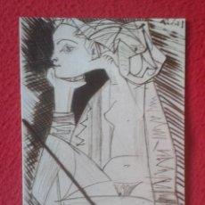 Postales: POSTAL POST CARD MUJER DE PERFIL Y SENTADA 1951 MUSEO PICASSO PABLO RUIZ BARCELONA PRUEBA ANULADA.... Lote 195072861