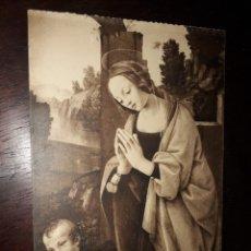 Postales: Nº 36316 POSTAL CUADRO LORENZO DI CREDI LA VIERGE ADORANT LENFANT JESUS. Lote 195316252