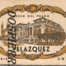 Postales: POSTA, MUSEO DEL PRADO, VELÁZQUEZ, -BLOC DE POSTALES CON 10 POSTALES, HELIOTIPIA. Lote 195384246
