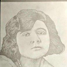 Postales: FLORBELA ESPANCA, POETISA PORTUGUESA PRECURSORA DEL MOVIMKIENTO FEMINISTA PORTUGUÉS. NUEVA. BLANCO/N. Lote 195531913