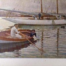 Postales: PINTURA: FUTURO YACKTMAN DE JUAN LLAVERÍAS LABRO. NUEVA. COLOR. Lote 195532060