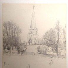 Postales: PINTURA: ST. GEORGE'S STREET, NEWINGATE DE WALTER M. KEESEY. NUEVA. BLANCO/NEGRO. Lote 195532115