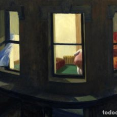 Postales: POSTAL DEL CUADRO NIGHT WINDOWS, DE EDWARD HOPPER. TEMA: PINTURA, ARTE.. Lote 222184375