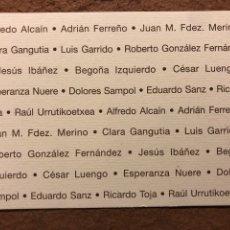 """Postales: V.V.AA. (ALFREDO ALCAÍN, CÉSAR LUENGO,...) """"DIBUJO"""". POSTAL CIRCULADA EXPOSICIÓN GALERÍA EDERTI. Lote 195727655"""