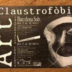 "Postales: ART CLAUSTROFÓBIC ""24 ARTISTES TRANDISCIPLINARIS"" K.R.A. TARJETA PROMOCIONAL EXPOSICIÓN TRANSFORMADO. Lote 195730498"