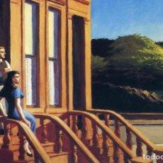 Postales: POSTAL DEL CUADRO SUNLIGHT ON BROWNSTONES, DE EDWARD HOPPER. TEMA: PINTURA, ARTE.. Lote 222184386