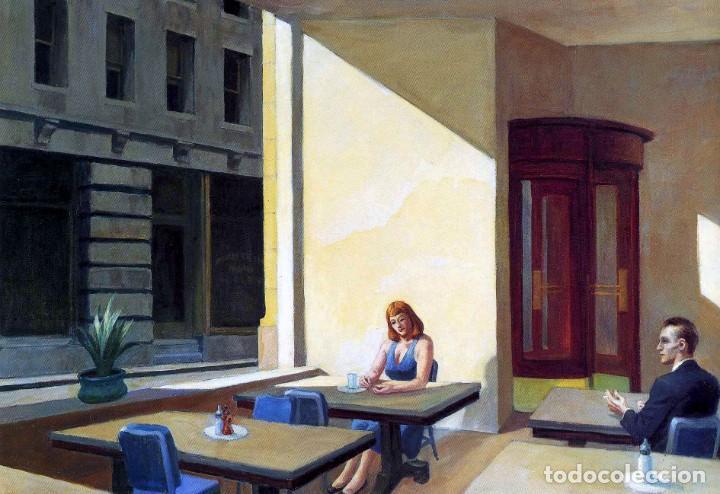 POSTAL DEL CUADRO SUNLIGHTS IN CAFETERIA, DE EDWARD HOPPER. TEMA: PINTURA, ARTE. (Postales - Postales Temáticas - Arte)