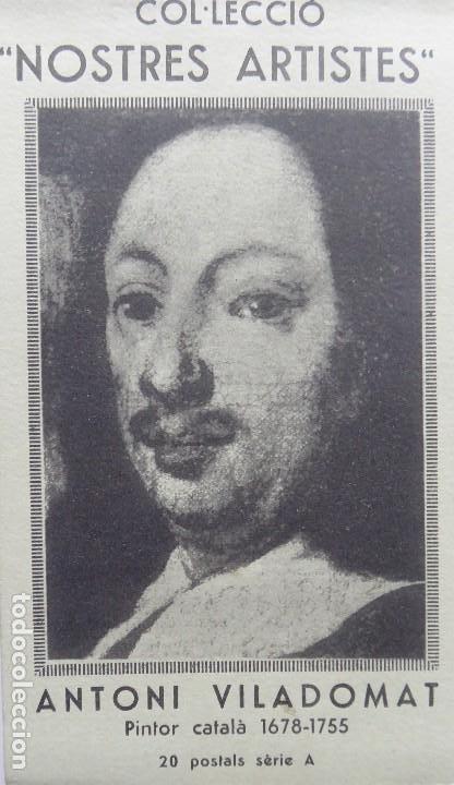 P-10147. ANTONI VILADOMAT PINTOR CATALÁ 1678-1755. TALONARI DE 20 POSTALS, FOTOGRAFO FRANCESC SERRA. (Postales - Postales Temáticas - Arte)