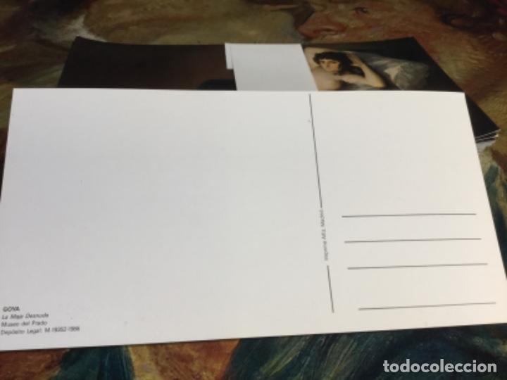 Postales: 100 postales - LA MAJA DESNUDA - Goya - medias 10 x 20 cms LOTE 3 - Foto 2 - 197193543