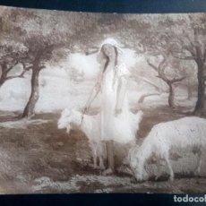 Postales: ANTIGUA POSTAL, PINTURA DE A DELAYE, EL CONSUELO DE LA PRIMAVERA . Lote 197975685