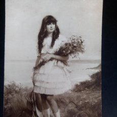 Postales: ANTIGUA POSTAL, PINTURA DE WALHAIN, EN LA COSTA NORMANDA. Lote 197975881