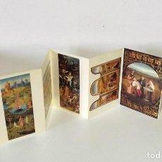 Postales: CARPETA CON POSTALES DE CUADROS DE EL BOSCO. Lote 199845572