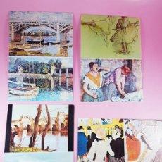 Postales: LOTE 4 POSTALES-ARTE-LAUTREC,DEGAS...-COLECCIÓN-EXCELENTE ESTADO-ANTIGUAS-. Lote 200594020