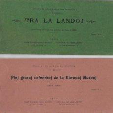 Postales: P-11434. PAREJA ALBUMS DE POSTALES. PIEJ GRAVAL CEFVERKOJ DE LA EUROPA MUZEO. TRA LA LANDOJ.. Lote 200839535