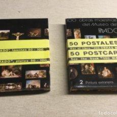 Postales: 2 CARPETA CON 50 POSTALES CADA UNA DE CUADROS EXTRANJEROS DEL MUSEO DEL PRADO (REF.6) . Lote 201219286