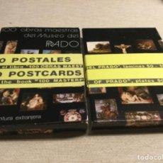 Postales: 2 CARPETA CON 50 POSTALES CADA UNA DE CUADROS EXTRANJEROS DEL MUSEO DEL PRADO (REF.7) . Lote 201219348
