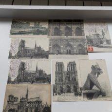 Postales: 9 POSTALES FRANCESAS DE NOTRE DAME DE PARÍS. DE 1910S. Lote 201550907