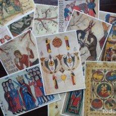 Postales: DOS LOTES DE POSTALES DE LA REAL COLEGIATA DE SAN ISIDORO (LEÓN). Lote 202534386