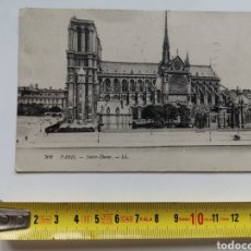 Postales: POSTAL DE NOTRE DAME DE PARÍS DE 1919. FRANCE. FRANCIA. Lote 202902828