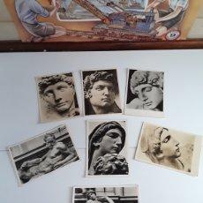 Postales: 7 POSTALES CON ESCULTURAS DE MICHELANGELO. Lote 203331520