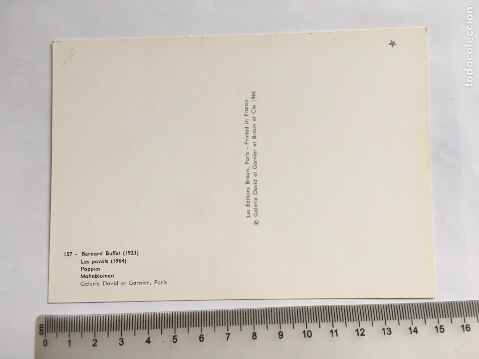 Postales: BERNARD BUFFET. (1923). LES PAVOTS. (1964). LES EDITIONS BRAUN. PARÍS. - Foto 2 - 203905213