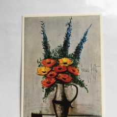 Postales: BERNARD BUFFET. (1923). LES PAVOTS. (1964). LES EDITIONS BRAUN. PARÍS.. Lote 203905213