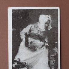 Postales: POSTAL LA MÉNAGÈRE. BAIL. CIRCULADA EN 1905 DE AULNAY DE SAINTOGNE A SAINT JEAN DE ANGELY. CHARENTE.. Lote 205837863