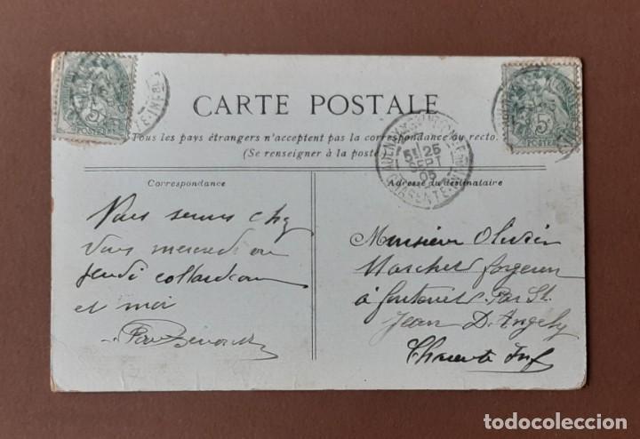 Postales: POSTAL LA MÉNAGÈRE. BAIL. CIRCULADA EN 1905 DE AULNAY DE SAINTOGNE A SAINT JEAN DE ANGELY. CHARENTE. - Foto 2 - 205837863