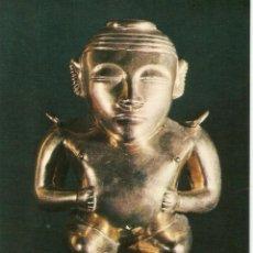 Postales: POSTAL MUSEO DE AMERICA - VASIJA ANTROPOMORFA EN ORO. Lote 206516712