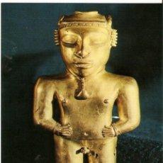 Postales: POSTAL MUSEO DE AMERICA - VASIJA ANTROPOMORFA EN ORO. Lote 206517047