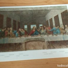 Postales: POSTAL REPRODUCCION DE LA ÚLTIMA CENA, LEONARDO DA VINCI - SIN CIRCULAR. Lote 206846085