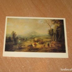 Postales: LUCAS VAN JUDEN LANDSCAPE WITH CARRIAGES AND A MOUNTAIN. Lote 206879708