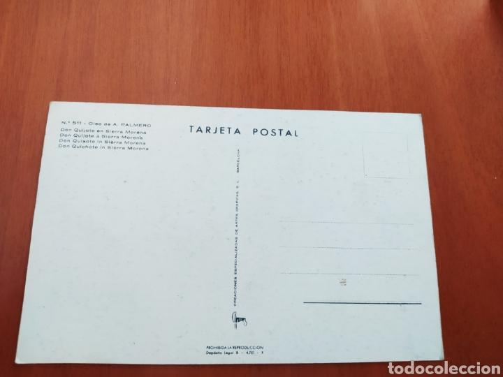Postales: Postal Don Quijote en Sierra morena. Óleo de A. Palmero. Sin circular - Foto 2 - 207322096