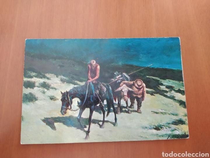 POSTAL DON QUIJOTE EN SIERRA MORENA. ÓLEO DE A. PALMERO. SIN CIRCULAR (Postales - Postales Temáticas - Arte)
